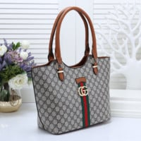 GUCCI Women Leather Shoulder Bag Satchel Tote Handbag