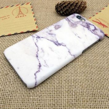 Light Purple Marble Best Protection iPhone 7 7 Plus & iPhone 6 6s Plus & iPhone 5s se Case Personal Tailor Cover + Gift Box-170928