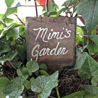 Mimis Garden sign markers mother's day gift hand painted
