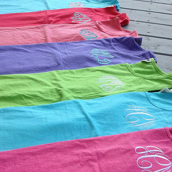 Monogrammed Comfort Colors Tank by GladevilleFarmhouse on Etsy