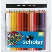 Prismacolor Scholar Colored Pencils, Set of 48 Assorted Colors (92807)