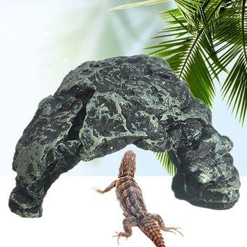 Cave Design Resin Reptile Amphibian Natural Burrow Aquarium Decorative Hiding