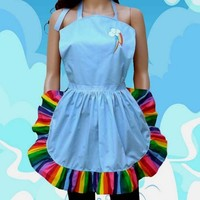 Rainbow Dash Apron Cosplay Costume Cook Baker Chef MLP
