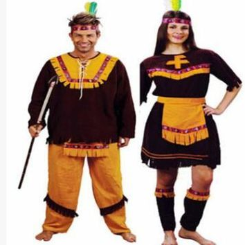 Indian Women Pocahontas Adult Fancy Dress Halloween Cosplay Costume Aboriginals Cosplay Costume