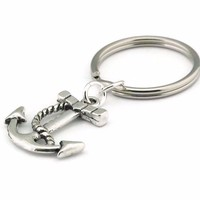 Anchor Keychain, Nautical Keyring, Key Chain