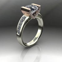Forever Brilliant Moissanite Engagement Ring Diamond Accents 2.35 CTW