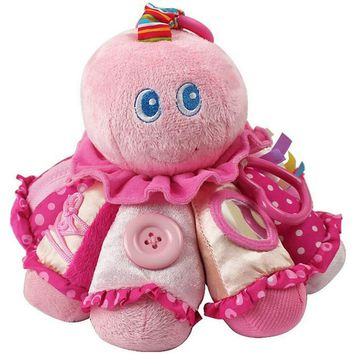 New Baby Toy Cute Cartoon Octopus Plush Rattle with Ring Bell Early Educational Toy