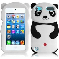 For Apple Ipod Touch 5 5th Generation Panda Silicone Jelly Skin Cover Case Black Accessory