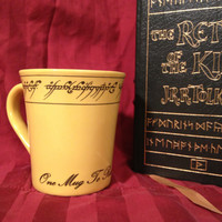 Elvish Tolkien The Hobbit and Lord of the Rings inspired Precious Mug. Have your ring and drink from it too. One Mug To Rule Them All-YOURS