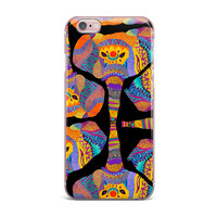 """Pom Graphic Design """"The Elephant In The Room"""" Rainbow Tribal iPhone Case"""