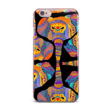 "Pom Graphic Design ""The Elephant In The Room"" Rainbow Tribal iPhone Case"
