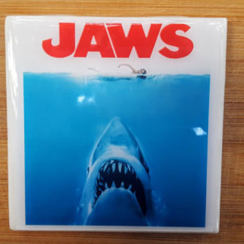 Single Tile Drink Coaster JAWS  Shark 70s Movie Poster Drink Coaster