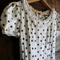 70s polka dot princess dress