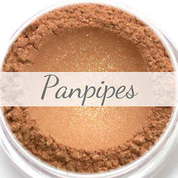 "Eyeshadow Sample - ""Panpipes"" - shimmery warm gold (Vegan) Mineral Makeup Eye Color Pigment"