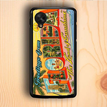 Dream colorful Vintage Florida Postcard Nexus 5 Case