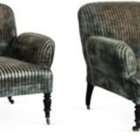 One Kings Lane - Kelly Wearstler: Modern Glamour - Low Armchairs, Pair