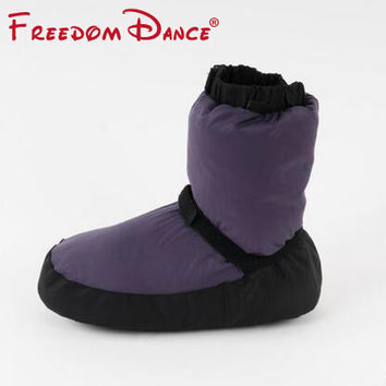 Ballet Warm-ups Ballet Point Warm Shoes Unisex Ballet Dance Boots Protection Foot Warm Shoes Dance Use and Home