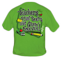 Sweet Thing Funny Teacher Plant Seeds Green Girly Bright T-Shirt
