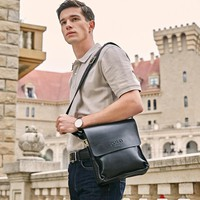 VICUNA POLO Brand: Men's Leather Casual Shoulder Bag for the Sophisticated Look