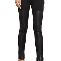 Conan Faux-Leather Moto Legging