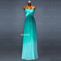 chiffon gradient prom dresses, gradient prom dress, chiffon prom dresses, long prom dresses, cheap prom dresses, dresses for prom, RE485