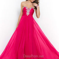 Beaded Blush Sweetheart Prom Dress 9984
