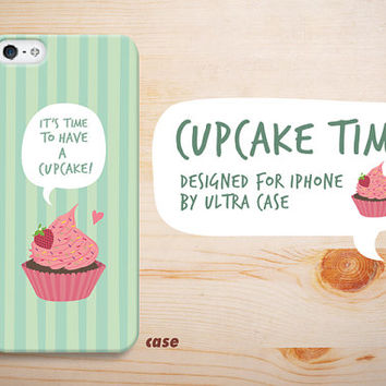 iPhone 5C Case cute cup cake, iPhone 5S Case cupcake, teal iphone 5 case, iPhone hard 4 case. designed for iPhone 4 / 4S / 5 / 5S / 5C