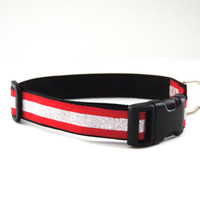 Red Dog Collar Adjustable Sizes (M, L, XL)