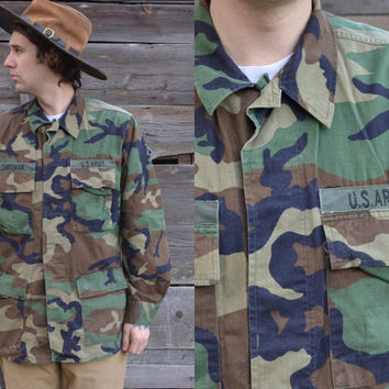 Vintage Us Army Military Camouflage Field Jacket