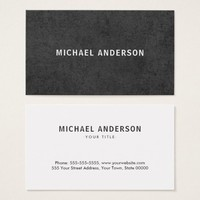 Modern, dark gray grunge business cards