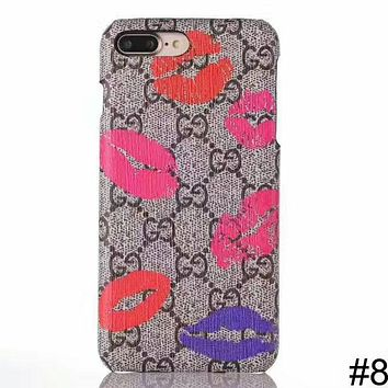 GUCCI tide brand fashion iphoneX luxury iphone6/7/8 mobile phone case cover #8