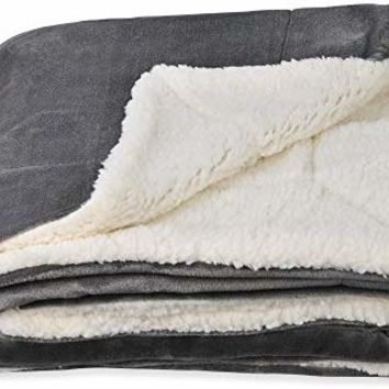 "SOCHOW Sherpa Fleece Throw Blanket, Double-Sided Super Soft Luxurious Plush Blanket 50""×60"", Grey"