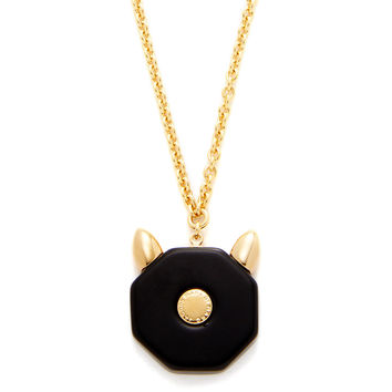 Marc by Marc Jacobs Jewelry Women's Octi Bolt Cat Pendant Necklace - Black