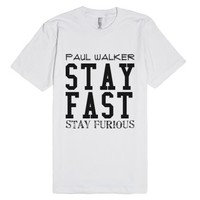Pual Walker-Unisex White T-Shirt