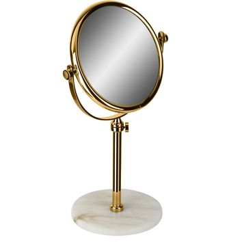 Alabaster Table Double Sided Extendable Cosmetic Makeup Magnifying Mirror
