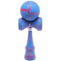 Blue & Red Full Cracked Kendama And Extra String