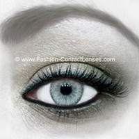 Grey Water Colour Contact Lenses