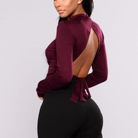 Maya Open Back Top - Plum