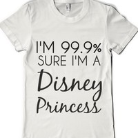 White Princess Tee-Female White T-Shirt