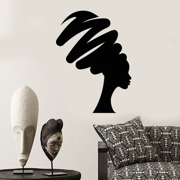 Vinyl Wall Decal Abstract African Woman Native Turban Stickers (2370ig)