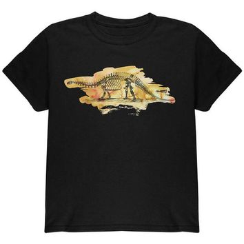 LMFCY8 Dinosaur Fossil Brontosaurus Youth T Shirt