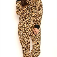 Plus Size Leopard Print Onesuit with Ears