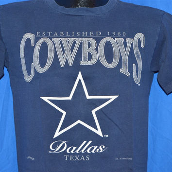 90s Dallas Cowboys Dark Navy Blue t-shirt Youth Extra-Large