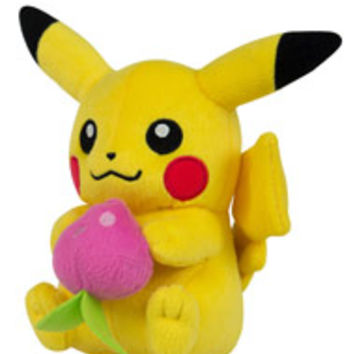 Pokemon Small Plush - Pikachu with Berry for Collectibles | GameStop