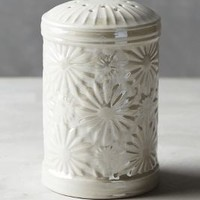 Raised Bloom Sugar Shaker by Anthropologie in Luster White Size: One Size House & Home