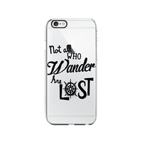 Not All Who Wander Are Lost Tolkien Clear Transparent Plastic Phone Case Phone Cover for Iphone 7/8PLUS_ SCORPIOshop (iphone 7/8PLUS)