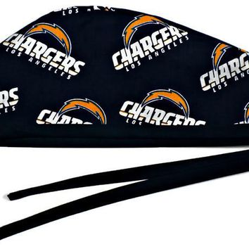 Men's Unlined Surgical Scrub Hat Cap in Los Angeles LA Chargers