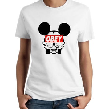 Mickey Mouse Obey Women T-Shirt