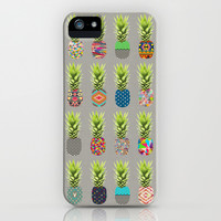 Pineapple Party iPhone & iPod Case by Bianca Green