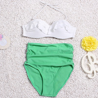 High Waist Bikini Sexy Swimwear Vintage Beach Swimsuit